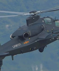 Caic Wz 10 Attack Helicopter China Military paint by numbers