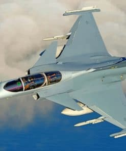 Gripen Fighter Jet Aircraft paint by numbers