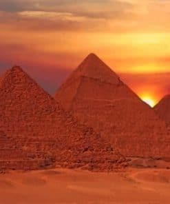 Pyramids Egypte paint by numbers
