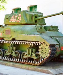 Ram Tank World War Battle paint by numbers