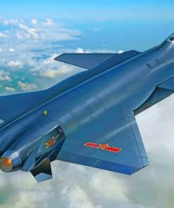 Shenyang j 20 Aircraft paint by numbers