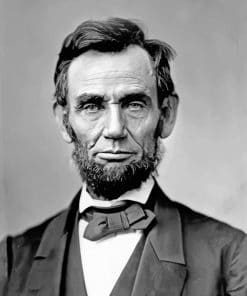 Black And White Abe Lincoln paint by numbers
