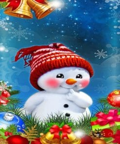 Christmas Snowman paint by numbers