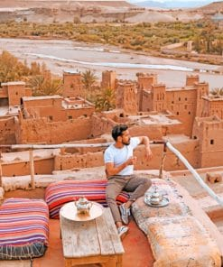 Man In Kasbah Morocco paint by numbers