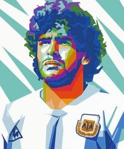 Maradona Pop Art paint by numbers