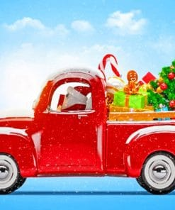 Santa Claus Truck paint by numbers