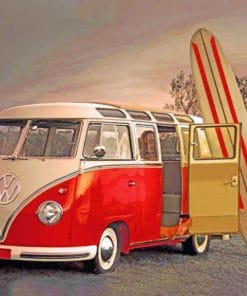 Vintage Red VW paint by numbers