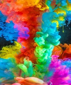 Colorful Smoke paint by numbers