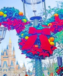 Disney World In December paint by numbers