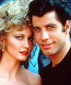 John Travolta Grease paint by numbers