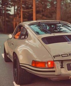 Porsche 911 Beige Paint by numbers
