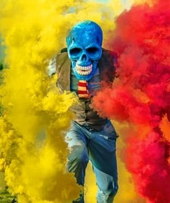 Skull With Smoke Bomb paint by numbers