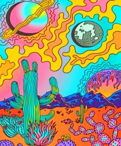 Trippy Art paint By Numbers