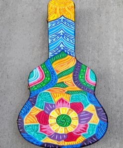 Colorful Guitar paint by numbers