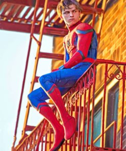 Tom Holland Spider Costume paint By Numbers