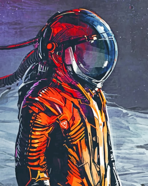 Aesthetic Space Man paint By Numbers