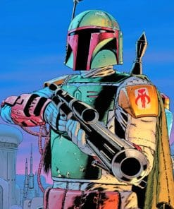 Boba Fett paint by numbers