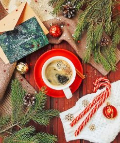 Christmas Coffee paint By Numbers