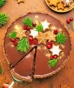 Christmas Tart paint By Numbers