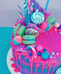 Cotton Candy Cake paint By Numbers
