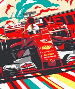Ferrari Vettel Poster paint By Numbers