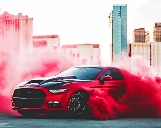 Ford Mustang Smoke paint By Numbers