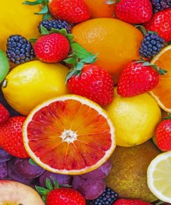 Frech Tropical Fruits paint By Numbers