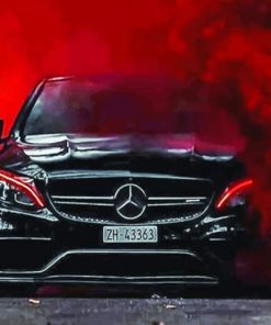 Mercedes Neon paint By Numbers