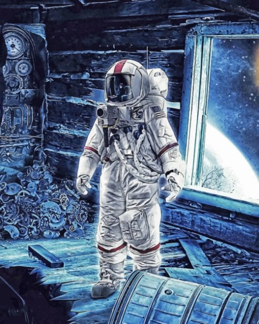 Space Man paint By Numbers