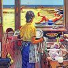 Doing-Dishes-At-Beach-paint-by-numbers