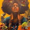 African-Woman-And-Butterflies-paint-by-number
